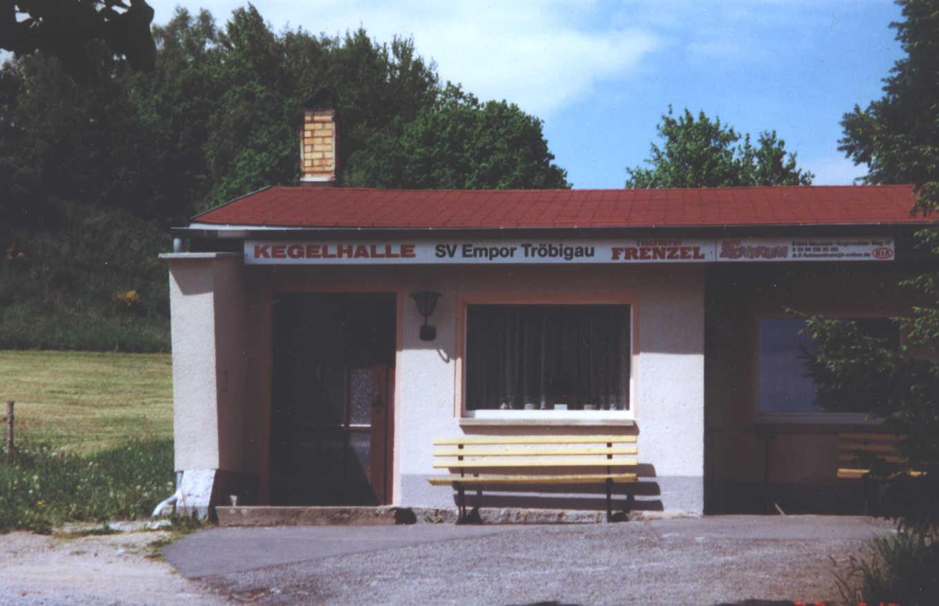 Die 1967 erbaute Kegelhalle