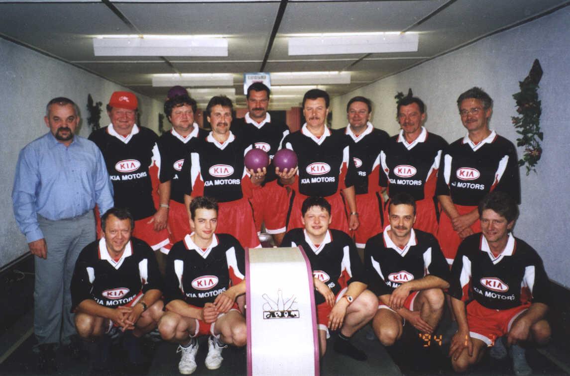 Kegelverein im Jahre 2000